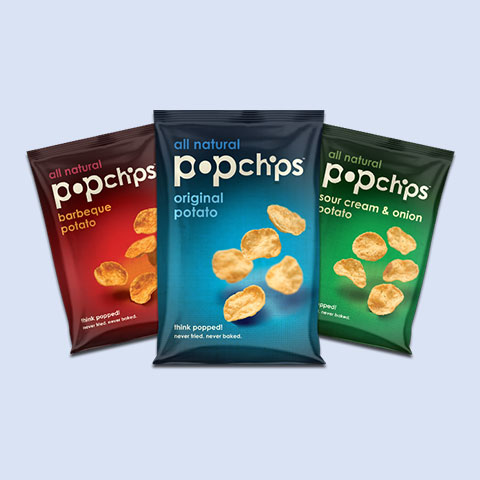 Selection of PopChip snacks
