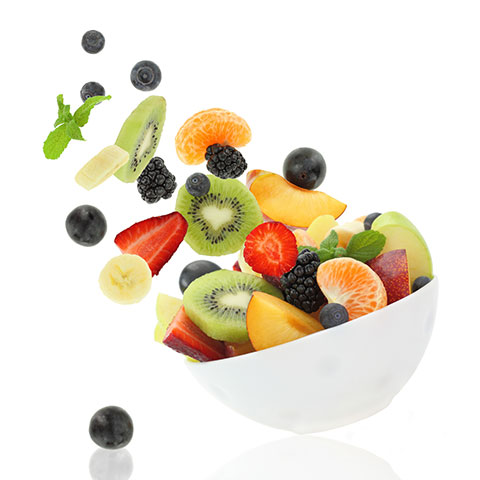 Bowl of healthy and fresh fruit