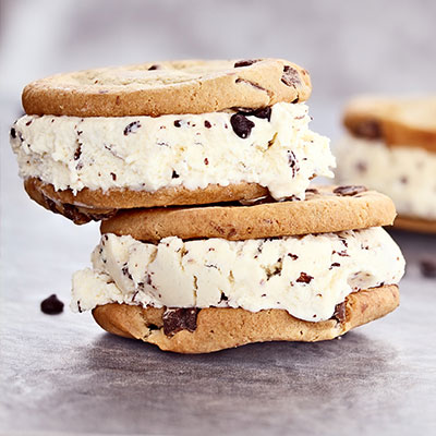 Ice cream sandwiches made from the best ice cream and fresh cookies