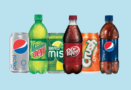 Pepsi and Coke beverage products