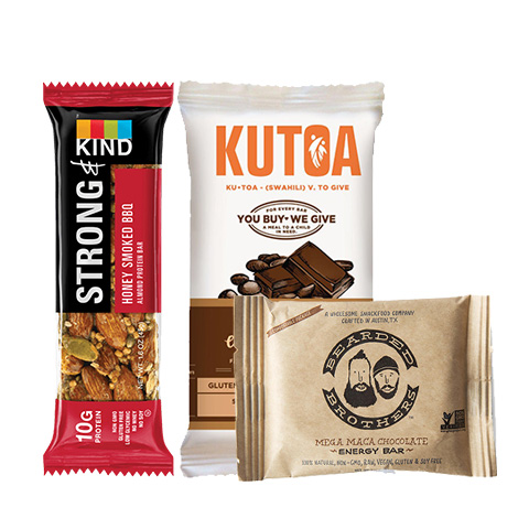 Quick snack bars on-the-go