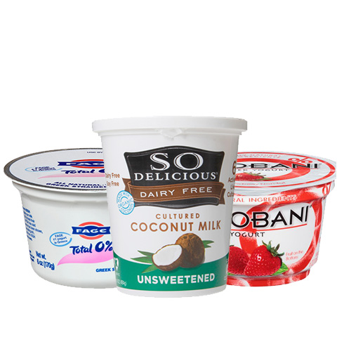 Yogurt and other refrigerated snacks